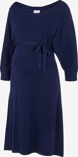 MAMALICIOUS Stickad klänning 'Paulina' i mörkblå: Sedd framifrån