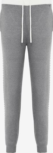 Finn Flare Schlupfhose in graumeliert / weiß, Produktansicht