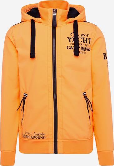 CAMP DAVID Softshelljacke mit Kapuze und Rücken-Print in orange, Produktansicht