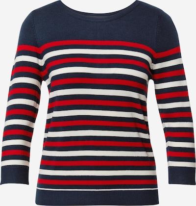 VERO MODA Pullover 'LACOLE' in navy / rot / weiß, Produktansicht
