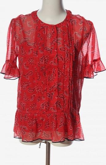 TOMMY HILFIGER Kurzarm-Bluse in XS in rot / schwarz / weiß, Produktansicht