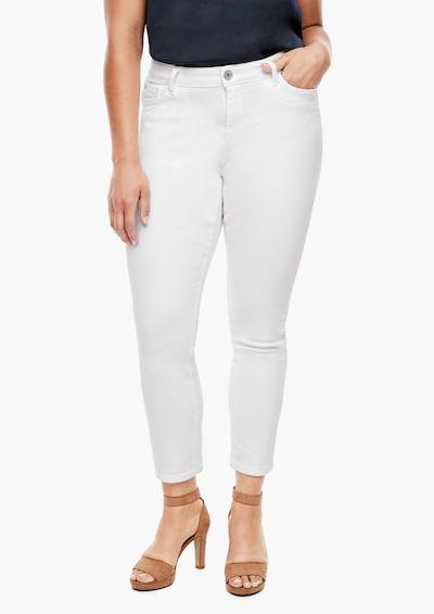 TRIANGLE Jeans in weiß, Modelansicht