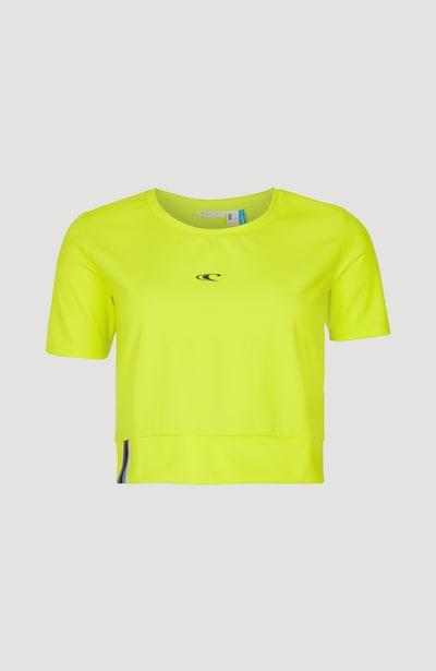 O'NEILL T-shirt fonctionnel en jaune citron / noir, Vue avec produit