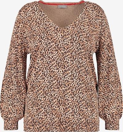 SAMOON Pullover in beige / braun / dunkelbraun, Produktansicht