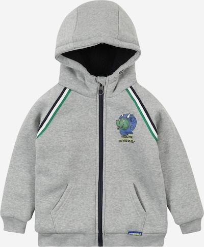 LEMON BERET Sweatjacke in graumeliert / grün / schwarz / weiß, Produktansicht