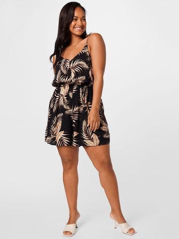 New Look Curves Jumpsuit 'HANNAH' in Zwart
