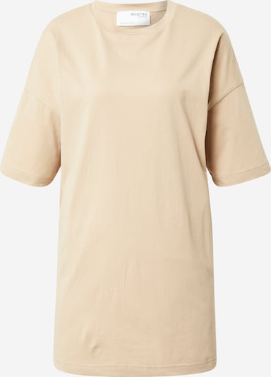 SELECTED FEMME Oversized bluse i beige, Produktvisning