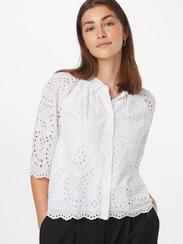 HUGO Bluse in Weiß