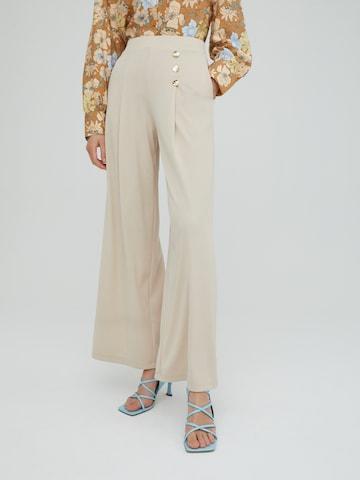 EDITED Plissert bukse 'Jamie' i beige