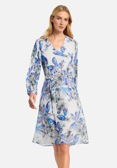 Uta Raasch Kleid in indigo / hellblau / pink / schwarz / weiß, Modelansicht