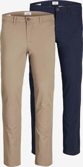 JACK & JONES Παντελόνι τσίνο 'Marco' σε μπεζ / ναυτικό μπλε, Άποψη προϊόντος