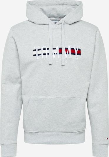 Tommy Jeans Sudadera 'TIMELESS' en navy / gris moteado / rojo / blanco, Vista del producto