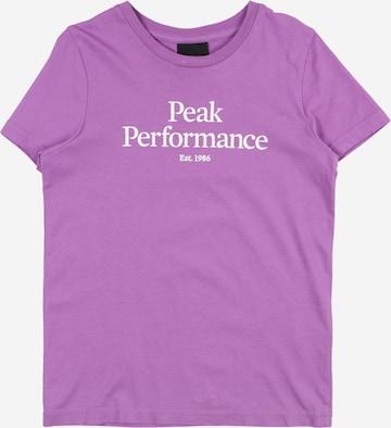 T-Shirt PEAK PERFORMANCE en violet