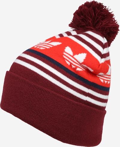 ADIDAS ORIGINALS Bonnet en rouge / bourgogne / blanc, Vue avec produit