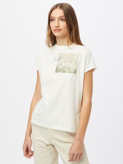 Maloja Функционална тениска 'Gleditsche' в пастелно зелено / светлозелено / бяло: Изглед отпред