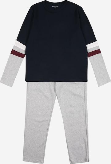 SCHIESSER Pyžamo 'Downhill' - námořnická modř / šedá / burgundská červeň / bílá, Produkt