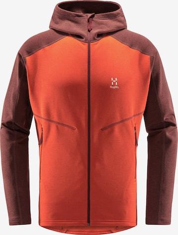 Veste en polaire fonctionnelle 'Heron' Haglöfs en orange