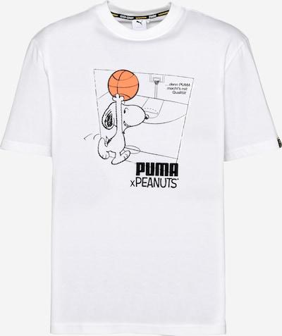 PUMA Shirt 'Peanuts' en orange / schwarz / weiß, Vue avec produit