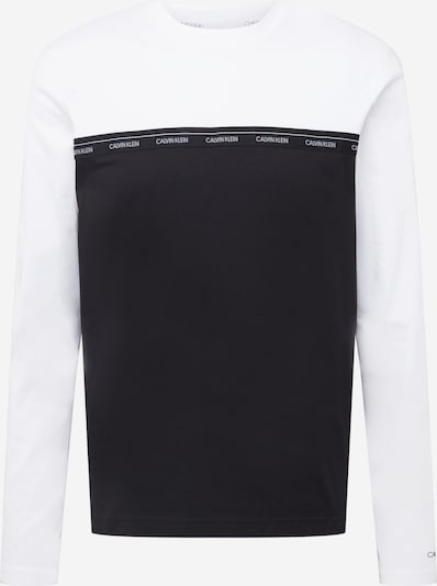 Calvin Klein T-Krekls, krāsa - melns / balts, Preces skats