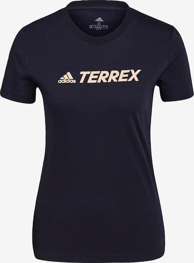 adidas Terrex Funktionsshirt in nachtblau / pfirsich, Produktansicht