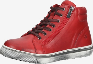 COSMOS COMFORT High-Top Sneakers in Red