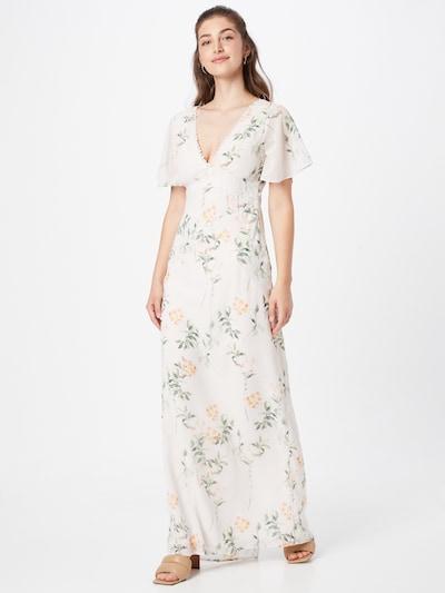 Hope & Ivy Kleid 'THE RAE' in grasgrün / orangerot / weiß, Modelansicht