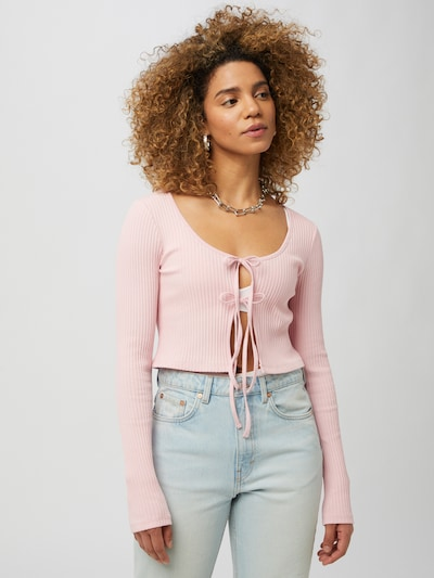 WEEKDAY Strickjacke in pink, Modelansicht