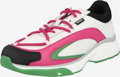 HUGO Sneaker 'Gilda' in grün / fuchsia / schwarz / weiß, Produktansicht