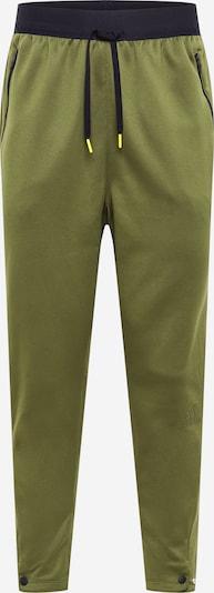 Sportinės kelnės iš ADIDAS PERFORMANCE , spalva - rusvai žalia / juoda, Prekių apžvalga