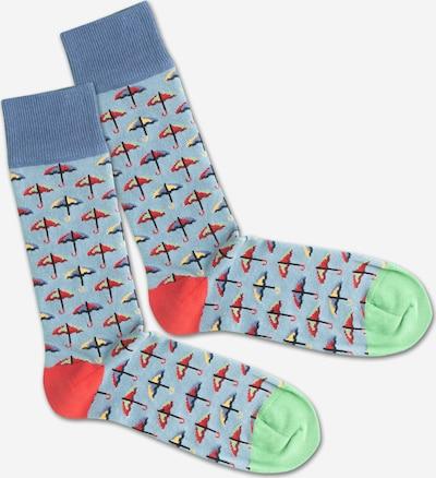 DillySocks Ponožky 'SS20-33 Rainy Day' - modrá / zelená / červená, Produkt