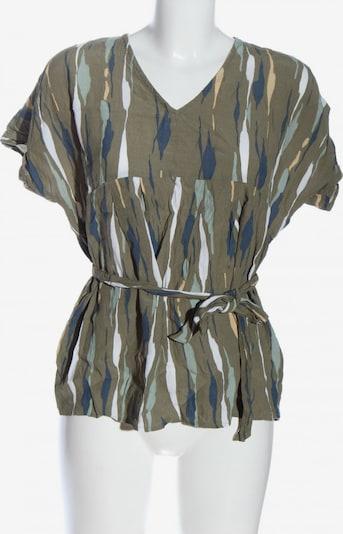 MAMALICIOUS Kurzarm-Bluse in S in blau / khaki / weiß, Produktansicht