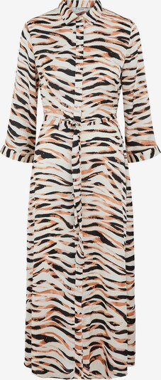 PIECES Vestido camisero en naranja / negro / blanco, Vista del producto