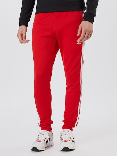 piros / fehér ADIDAS ORIGINALS Nadrág, Modell nézet
