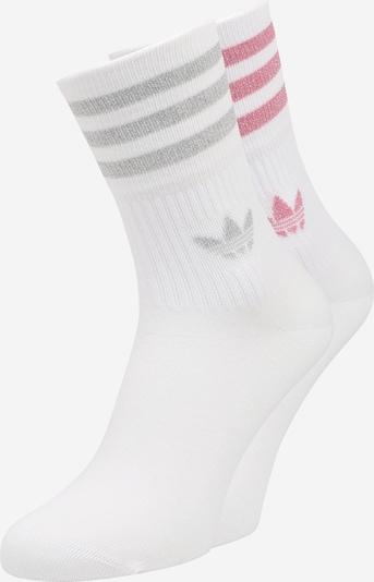 ADIDAS ORIGINALS Sokken in de kleur Grijs / Rosa / Wit, Productweergave