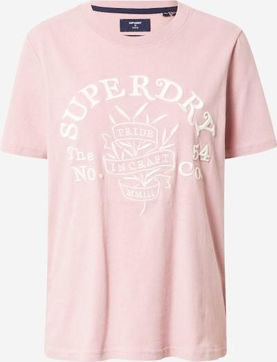 Superdry T-Shirt 'Pride In Craft' in rosa / weiß, Produktansicht