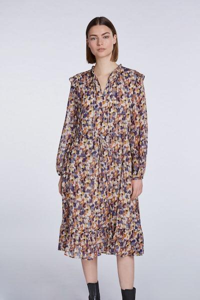 SET Blusenkleid in gelb / lila / pink / weiß: Frontalansicht