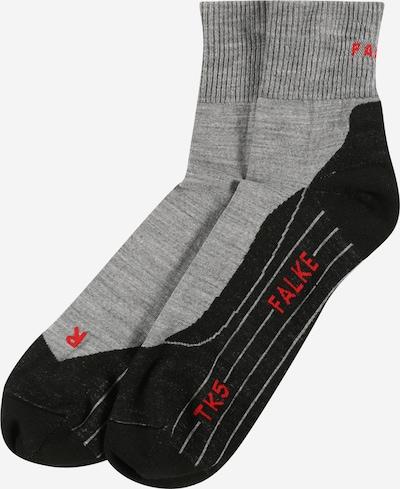 FALKE Chaussettes de sport en gris chiné / melon / noir chiné, Vue avec produit