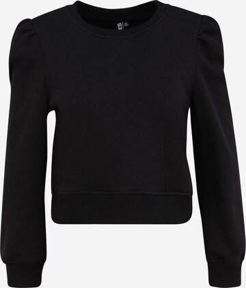Pieces Petite Sweatshirt 'Franci' in Schwarz