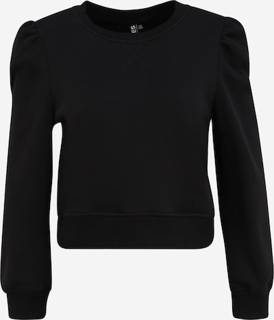 Pieces Petite Sweatshirt 'Franci' i svart: Sedd framifrån