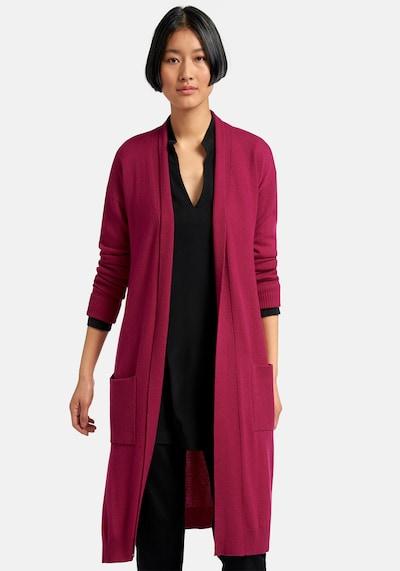 Peter Hahn Strickjacke Strickmantel aus 100% Premium-Kaschmir in pink, Modelansicht
