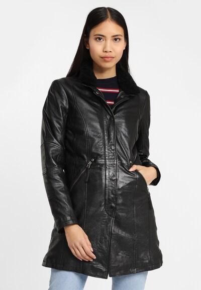 Gipsy Ledermantel 'Silah LEGV' in schwarz, Modelansicht