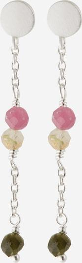 Pernille Corydon Jewellery Oorbellen 'Afterglow' in de kleur Crème / Kaki / Rosa / Zilver, Productweergave