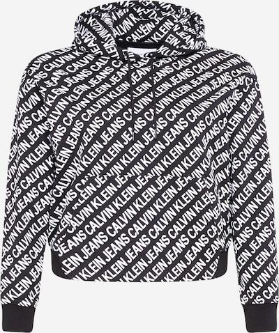 Calvin Klein Jeans Curve Sweatshirt in de kleur Zwart / Wit, Productweergave