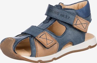Däumling Sandale in taubenblau / hellbraun, Produktansicht