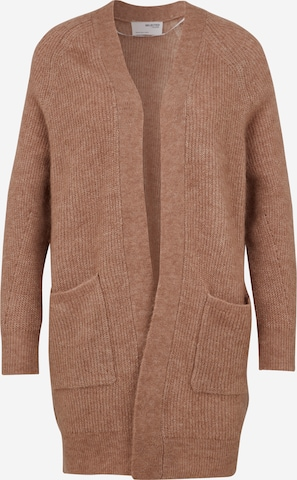 Selected Femme Petite Knit Cardigan 'LULU' in Beige