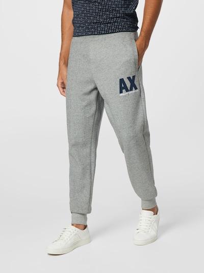 Pantaloni ARMANI EXCHANGE pe albastru noapte / gri amestecat / alb, Vizualizare model