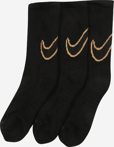 NIKE Chaussettes de sport en jaune / noir, Vue avec produit
