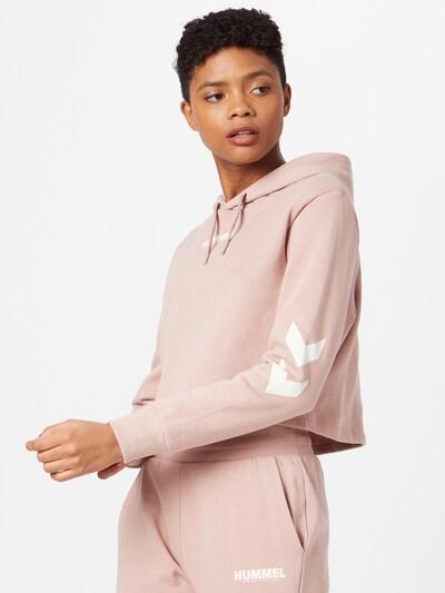 Hummel Sportiska tipa džemperis 'Legacy', krāsa - rožkrāsas / balts: Priekšējais skats