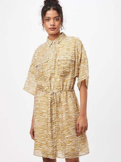 minimum Kleid 'Enga 7455' in braun / karamell / weiß, Modelansicht