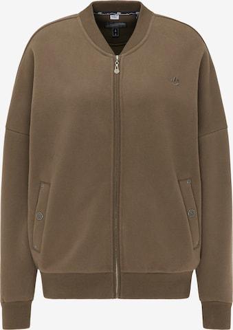 DreiMaster Vintage Zip-Up Hoodie in Brown